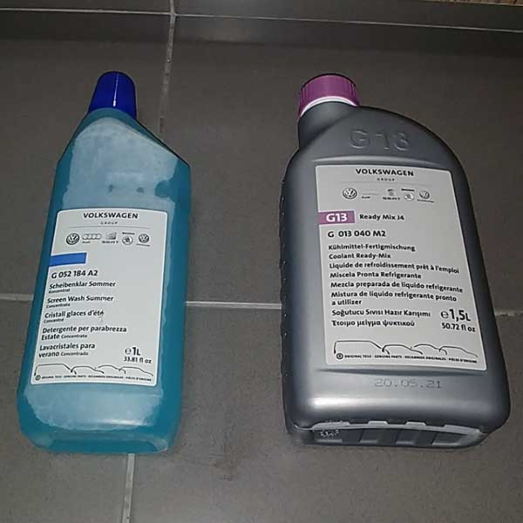 Original Volkswagen Premix Engine Coolant Windscreen Washer Fluid Vw Car Accessories On Carousell