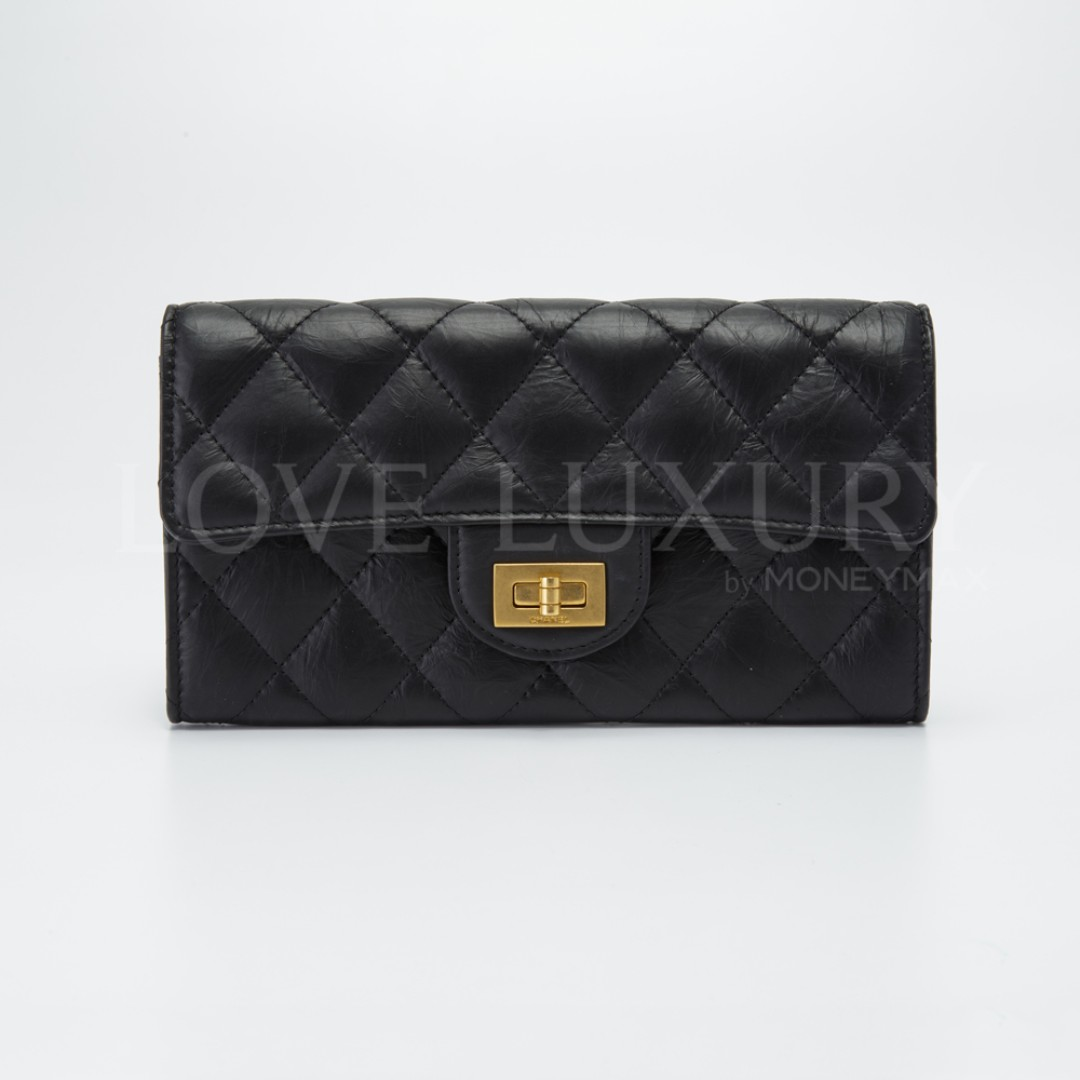 cb3c3457b39e Preowned Chanel, 2.55 Quilted Flap Long Wallet - A80829 (POB0005664 ...