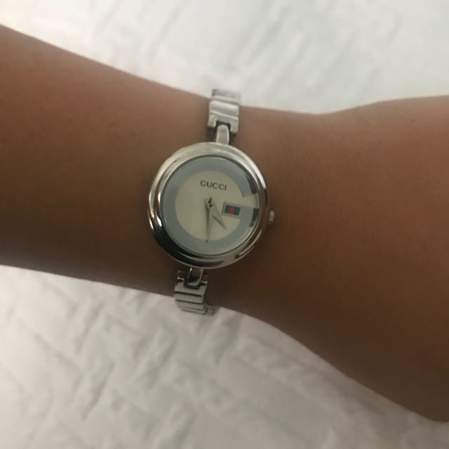 PRICE DROP!! Silver Gucci watch