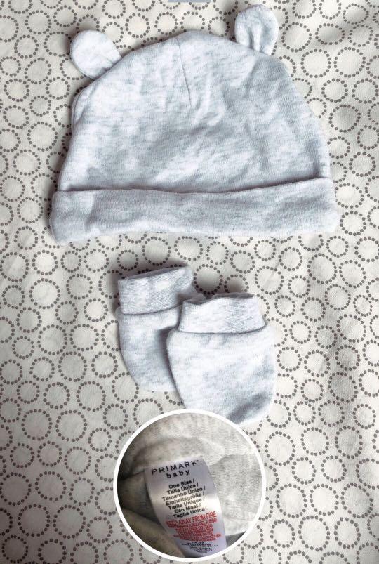 9c5b859d7cf Primark Baby Hat Mittens Set Babies Kids Arel On