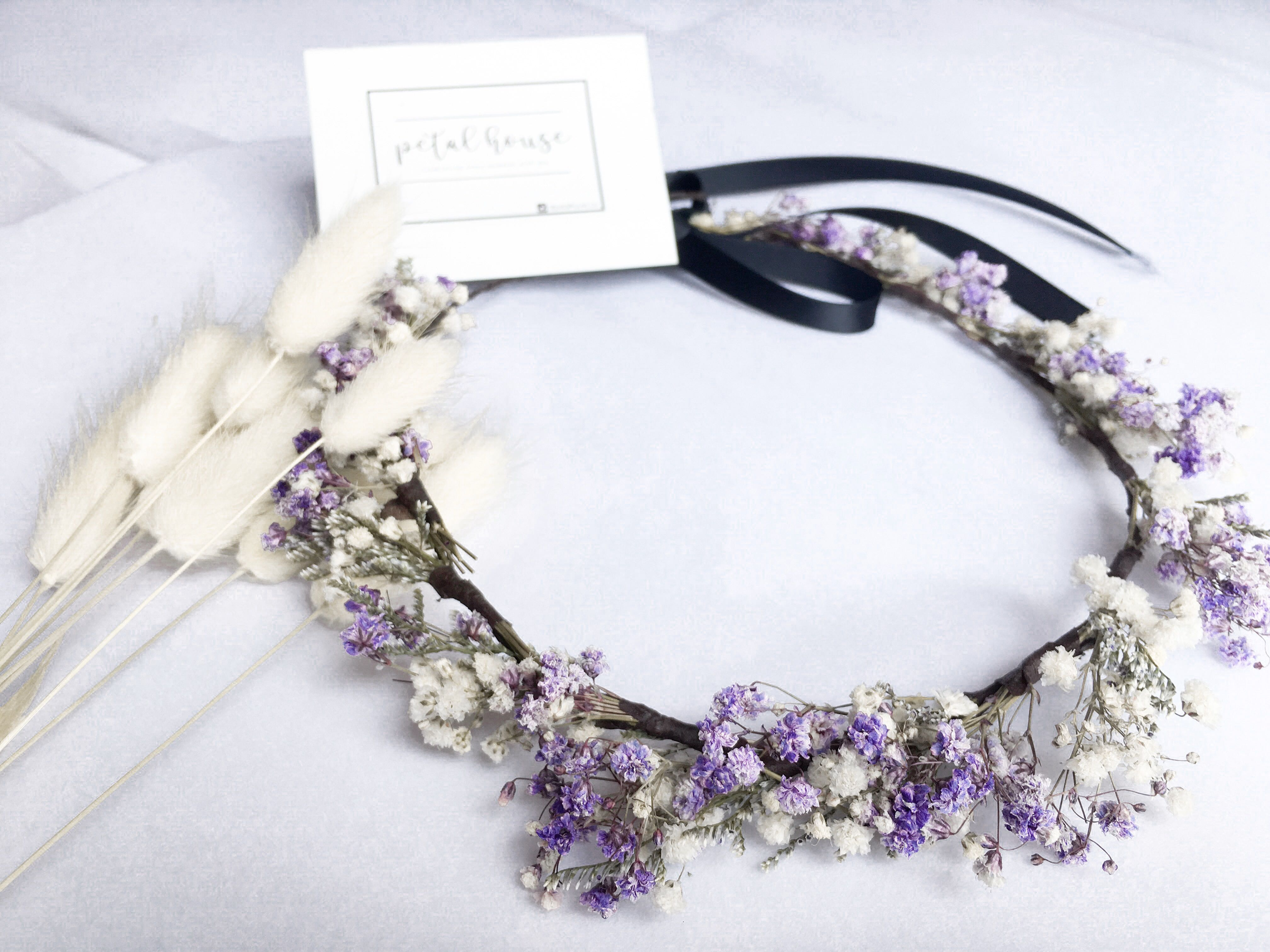 Real Dried Flower Crown Design Craft Handmade Craft On Carousell
