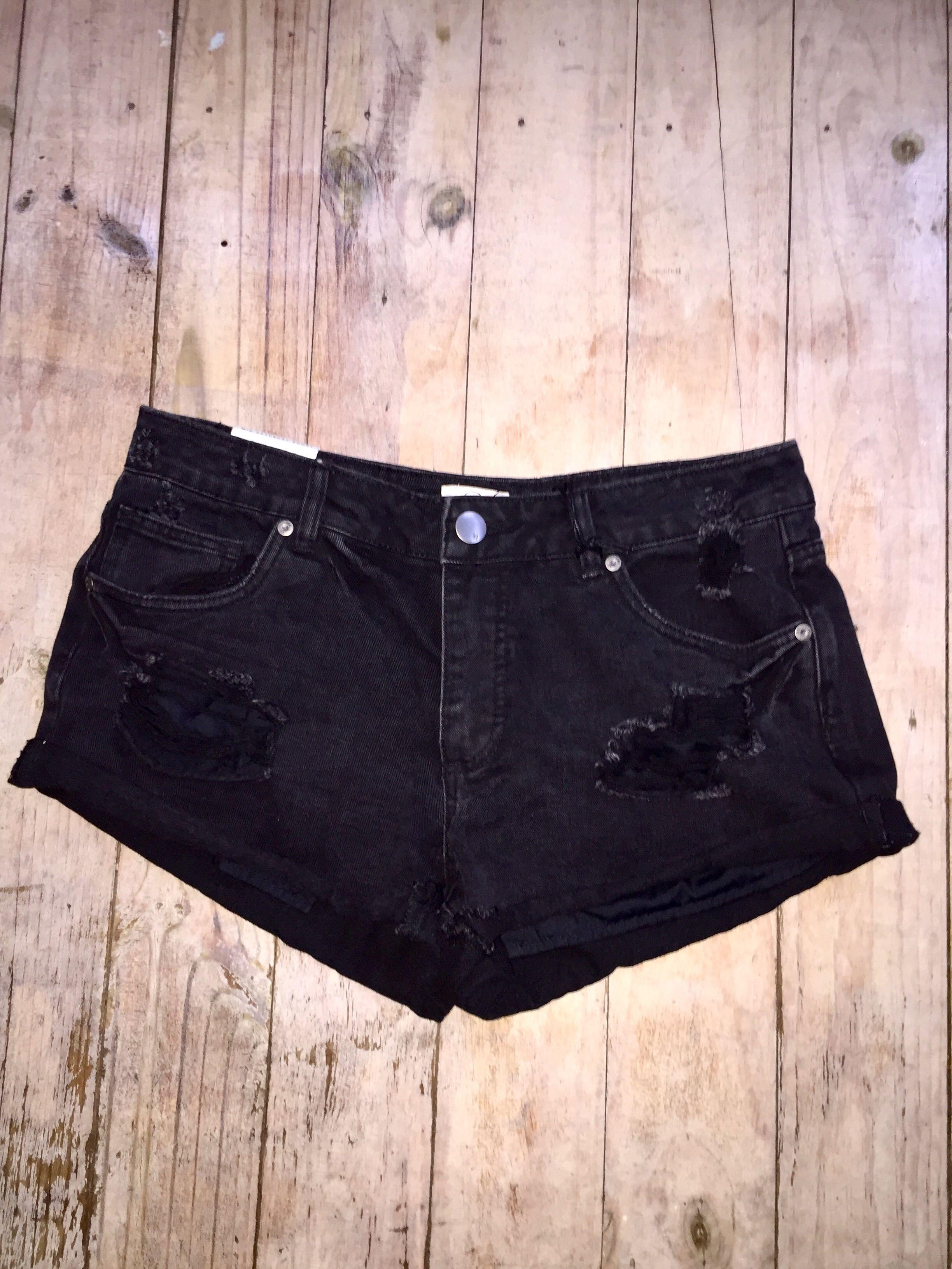 Ripped Dark Shorts