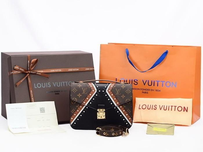 Tas Louis Vuitton Pochette Metis Monogram Brogue Hitam 7d7a91e335f59
