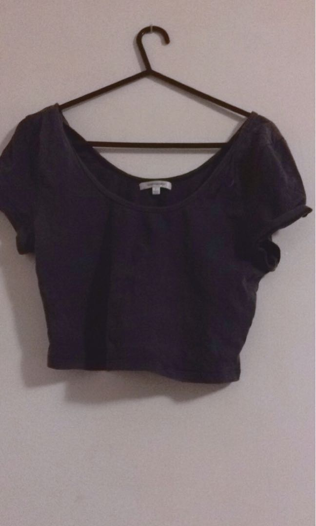 Valleygirl Navy Crop
