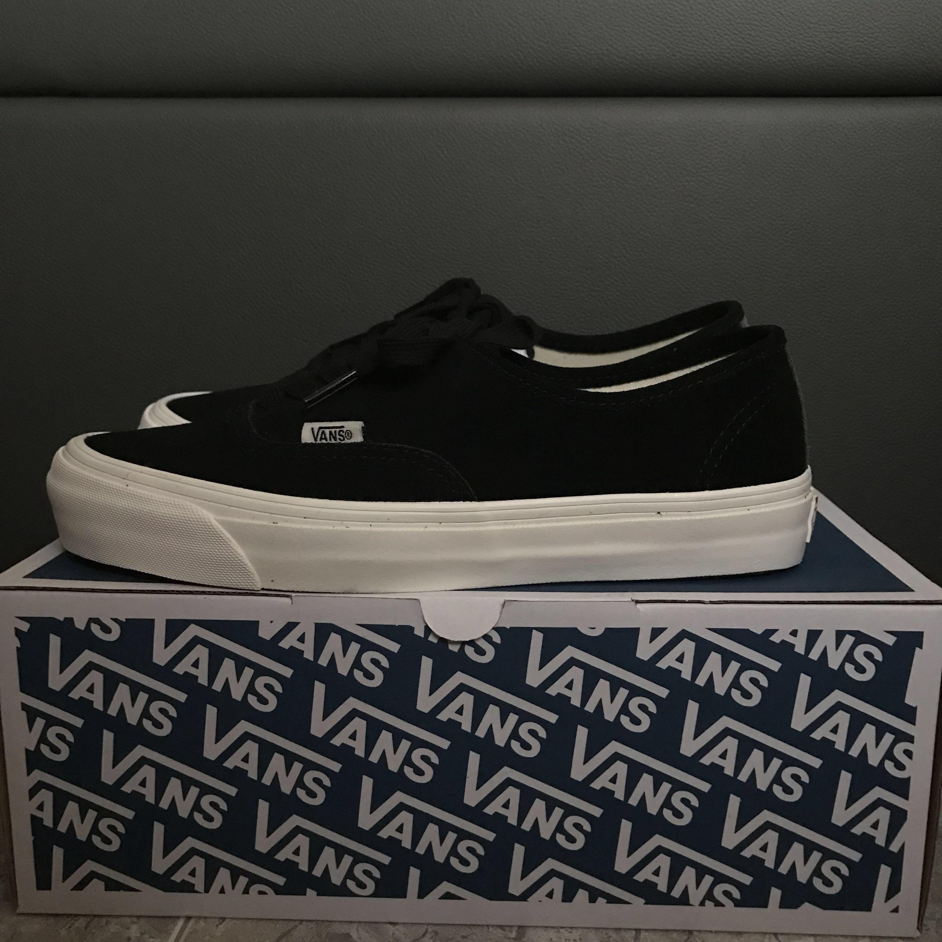 1547c96a60 Vans Vault OG Authentic LX Black Suede