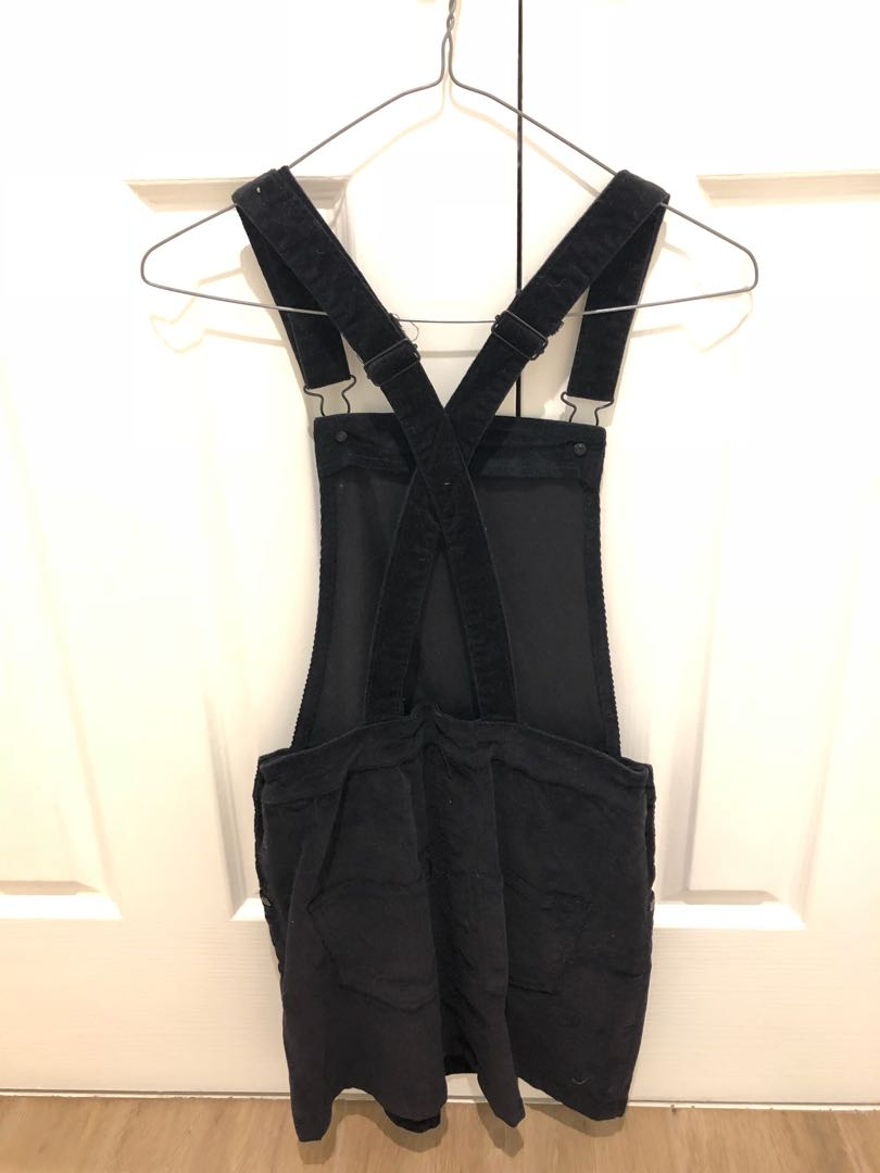 Velvet Dungaree Dress