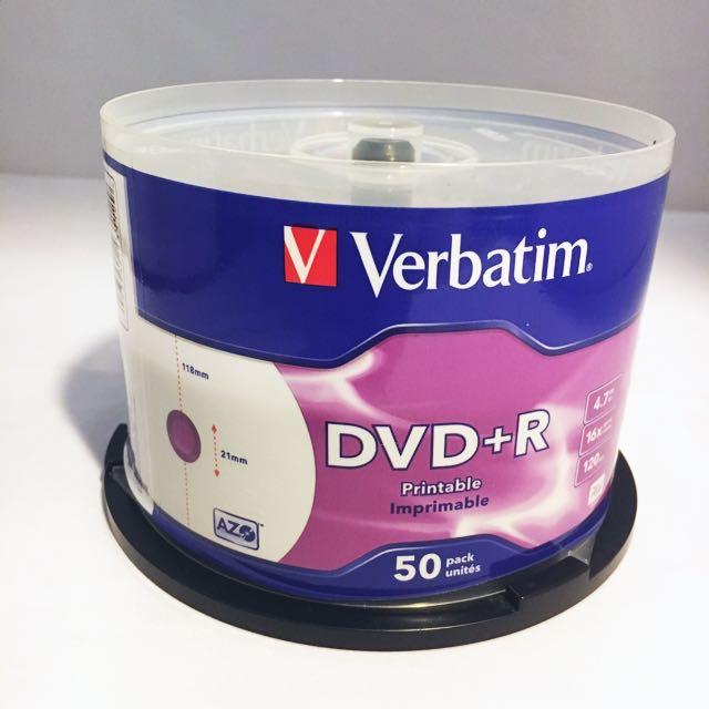 image regarding Printable Dvds named Verbatim printable DVD+R (32 computers)