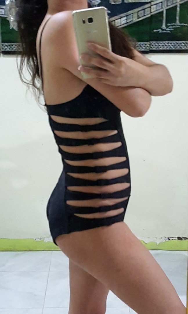 edc2d3ee7bec Victoria Secret black one piece cut out push up swimsuit on Carousell