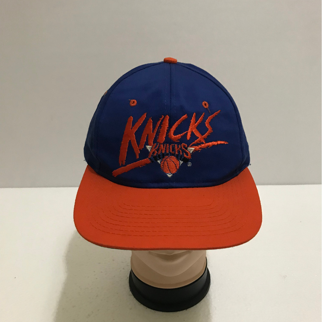 2843dc3e219 Vintage 90s New York KNICKS Big Logo Spell Out Embroidered Baseball ...