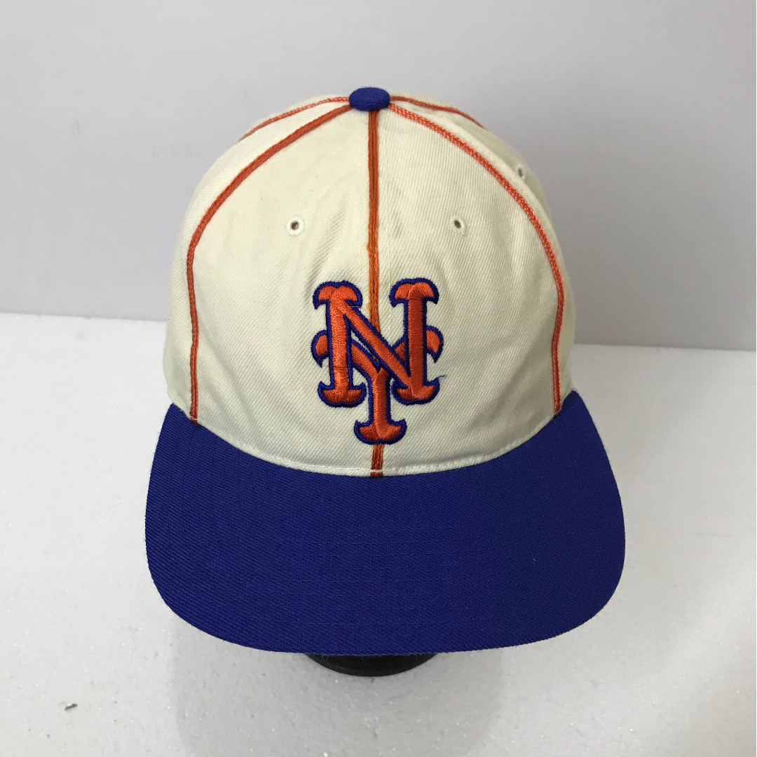1d5737ba90a Vintage 90s New York METS Big Logo Embroidered Baseball Cap Wool ...