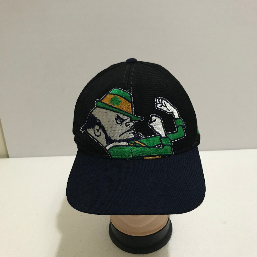 6dfcb13abe6ad Vintage 90s NOTRE DAME Fighting irish Big Logo Embroidered Baseball ...