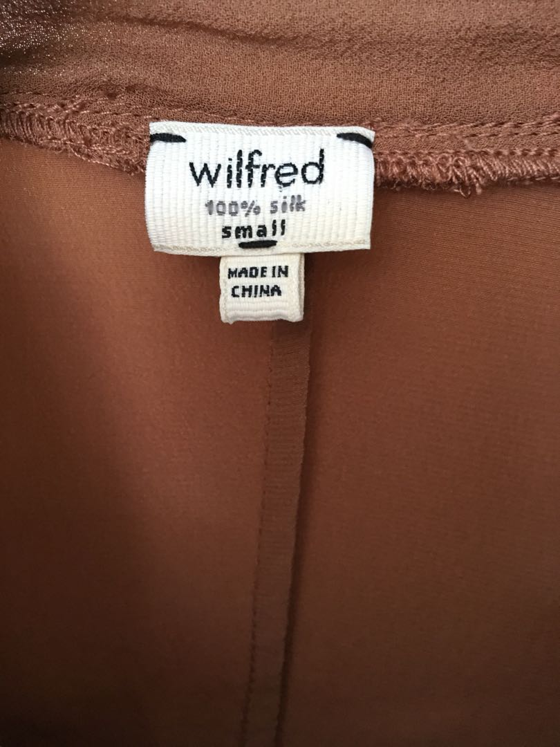 WILFRED SILK DRESS