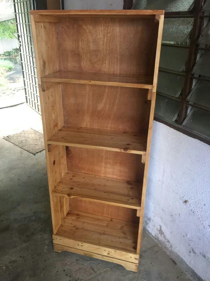 Wooden Shelf Rak Buku Kayu Pallet Home Furniture On Carou