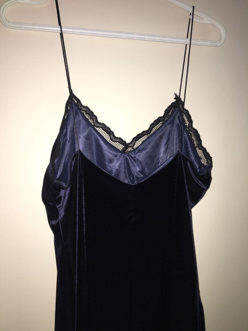 Zara Velvet slip dress