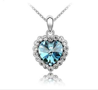 Swarovski elements crystal forever love necklace