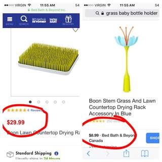 Boon grass bottle dryer with accessory