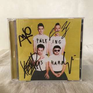 Walk The Moon Talking is Hard Signed Album