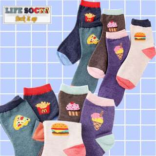 3 For $10 Fast Food High Socks