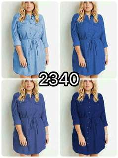 📢NEW ARRIVAL!!!  💰430  🌺U.S. Plus size dress  🌼Soft denim  🦋four colors  🌷fit M toxL (One Size) 🎀Good Quality 💕 *cou