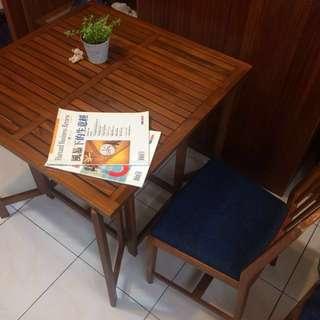 詩肯柚木折疊方桌,汐止可自取