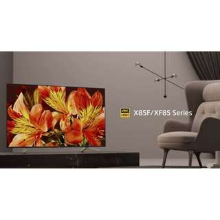 """NEW 2018 SONY 4K HDR LED TV 65""""X8500F ( AVAILABLE IN BLACK OR SILVER FRAME )"""