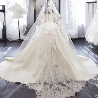 Pre order white long sleeve fishtail wedding bridal prom evening dress gown  RB0601