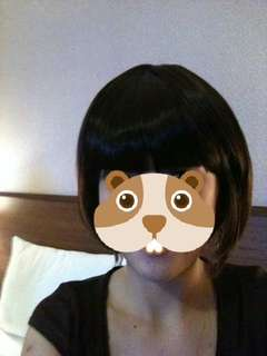 Short hair wig with fringe