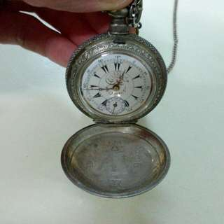 Pocket Watch With Winding Key Vintage