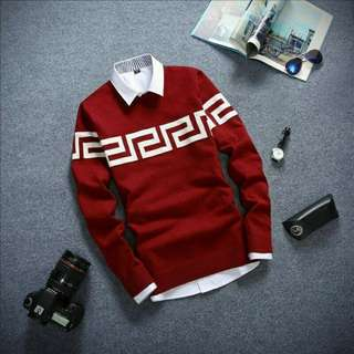 Sweater pria, RED TRIBAL