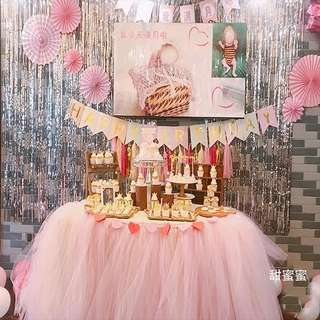 Dessert Table Tutu Skirting