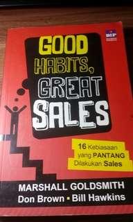 Buku Good Habits, Great Sales