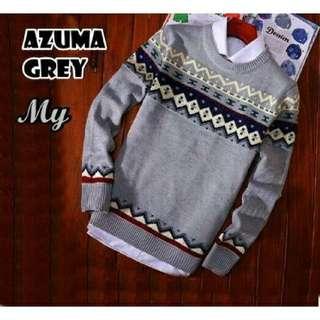 Sweater pria, AZUMA GREY