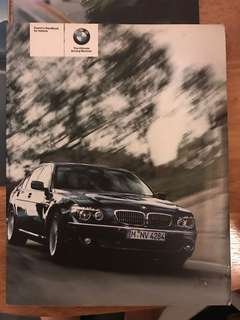 BMW E66 E65 730Li 740Li 750Li User Manual