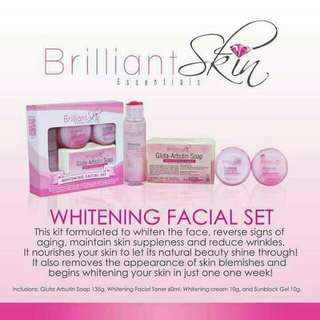 100% Original Brilliant Whitening Set