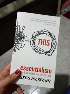 BN THIS ESSENTIALISM, THE DISCIPLINED PURSUIT OF LESS