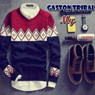 Sweater pria, GASTON TRIBAL