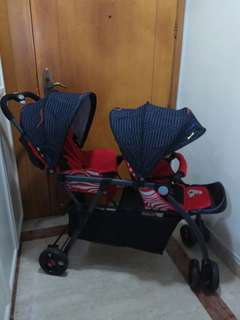 Mint Condition Like New Lightweight Tandem Double Stroller Pram