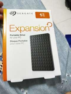 external Harddisk 1tb seagate bnib
