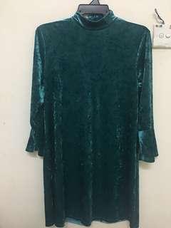 Monki Velvet Dress