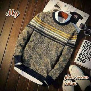 Sweater cowok, JHAN CREAM