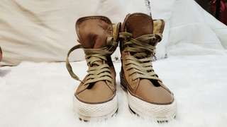 NAME YOUR PRICE | Authentic Brown Leather Sneaker Winter Boots (From US)
