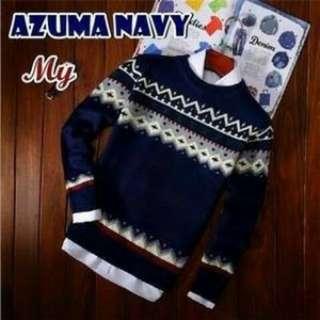 Sweater cowok, AZUMA NAVY