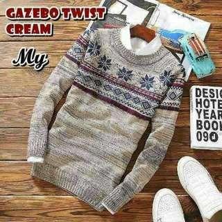 Sweater cowok, GAZEBO TWIST