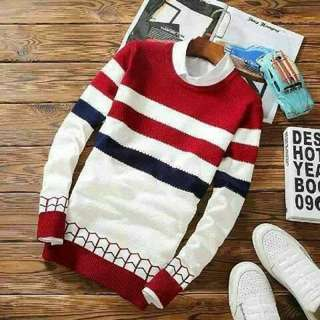 Sweater cowok, Navy RED