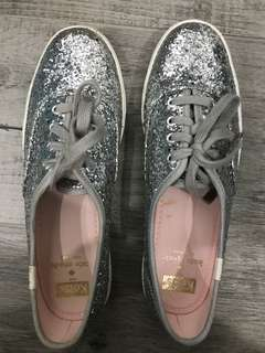 Keds Kate Spade silver glitter high sneakers