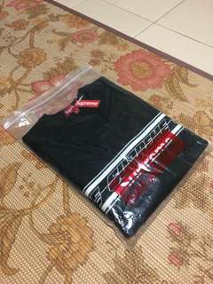 Supreme striped raglan sweater (Black)