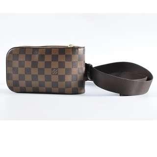 Authentic Louis Vuitton LV GERONIMOS Damier Ebene Pouch / Crossbody Belt Bag