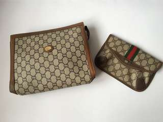 Authentic Gucci Vintage Clutch/Purse Combo Sales
