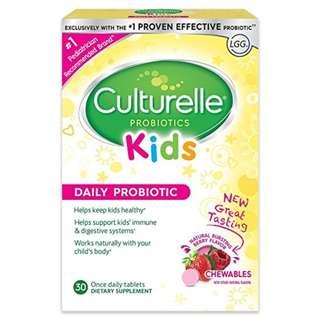 【旺角店現貨】康萃樂兒童益生菌咀嚼片 30 粒 Culturelle Kids Chewables Daily Probiotic Formula