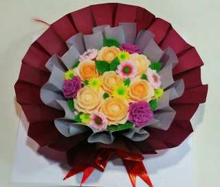 Mother's Day Flower Bouquet Jelly Cake